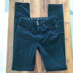 Earnest Sewn Ginger Highrise Skinny Jeans, Black